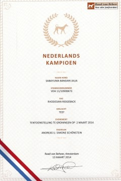 Champion Holland Sabayuma Bandari Jalia