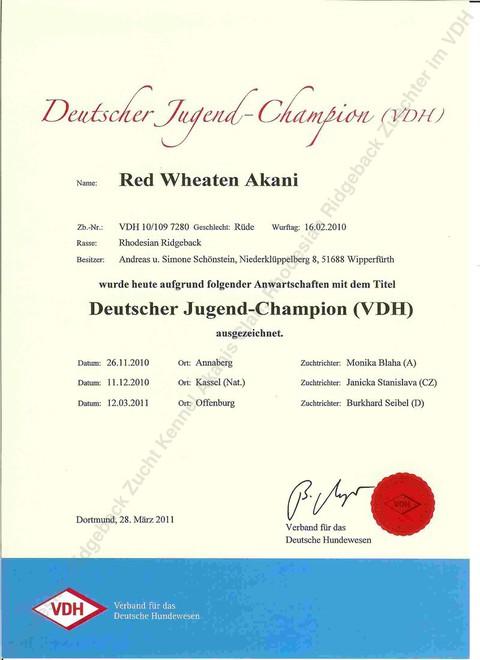 Akani Deutscher Jugend Champion (VDH)