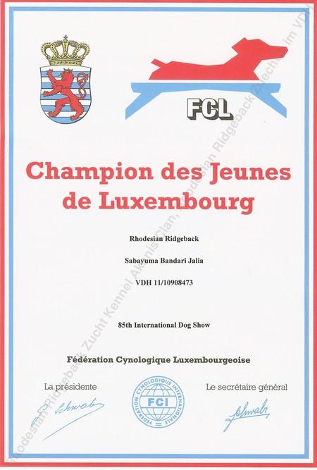 Jalia ist Jugendchampion Luxemburg